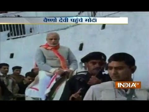 Narendra Modi visits Vaishno Devi shrine ahead of his rally in Jammu and Kashmir