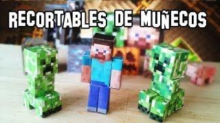 Como Hacer Los Muñecos Y Personajes De Minecraft