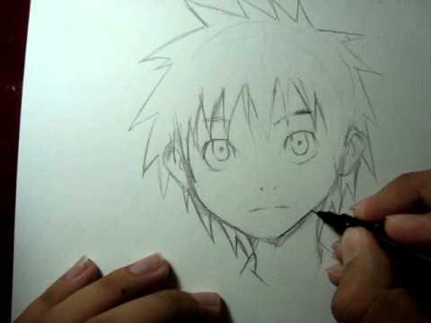 Tutorial Como desenhar mangá Rosto masculino(garoto criança) How to Draw Manga Boy