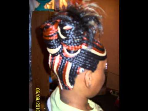 My hair styles braided quick weaves and twist braids - YouTube