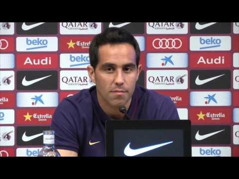 Presentacion Claudio Bravo en el FC Barcelona