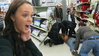 TACKLED BY POLICE!!
