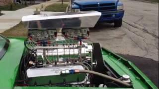 Green Machine 1979 Chevy Malibu Hot-Rod Supercar 1200 HP