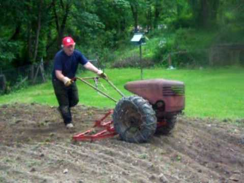 David Bradley Tractor At Work With 4 Attachments Youtube