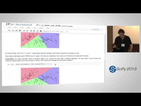 Image from Intro to scikit-learn (II), SciPy2013 Tutorial, Part 1 of 2