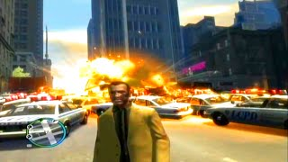 Grand Theft Auto 4 Most Cops/Greatest Explosion Ever