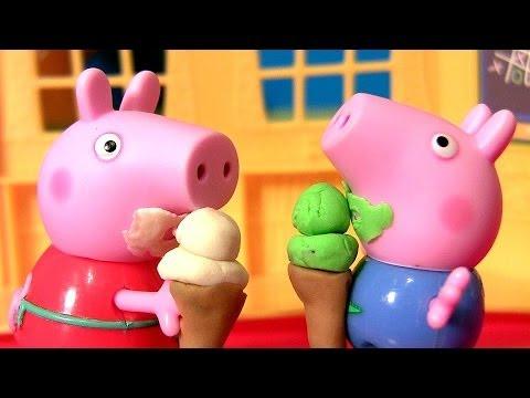 Play Doh Fazendo Casquinha de Sorvete pra Porquinha Peppa Pig com PlayDough Nickelodeon