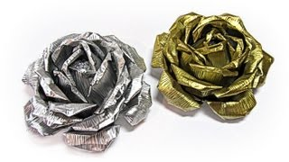 Como hacer rosas de aluminio