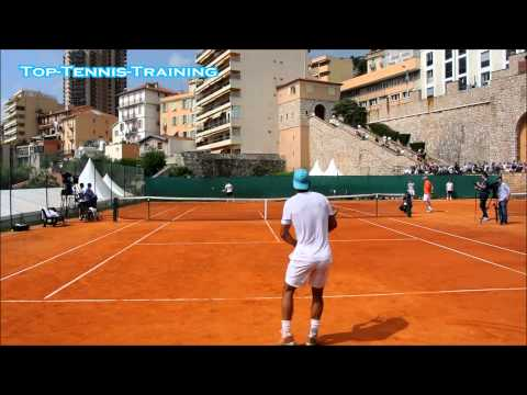 Rafael Nadal vs David Ferrer 2014-COURT LEVEL VIEW