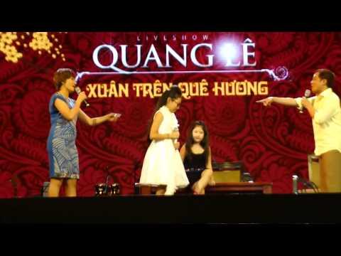 Phương Mỹ Chi đóng hài tại chương trình ca nhạc xuân quê hương của Quang Lê