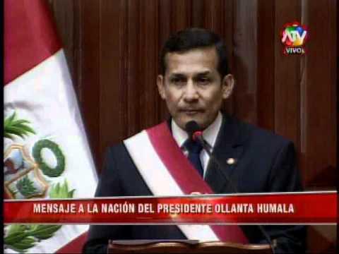 Mensaje alentador del Presidente Ollanta para las Fuerzas Armadas y PNP