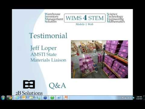 WIMS 4 STEM Customer Testimonial   Alabama Math, Science, and Technology Iniciative