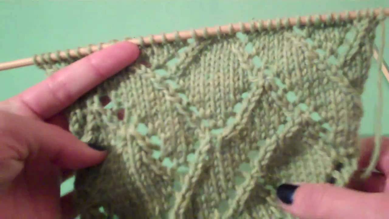 Vogue Knitting Stitch A Day : How to Knit the Diagonal Eyelet Mosaic Pattern from Vogue Knittings Stit...