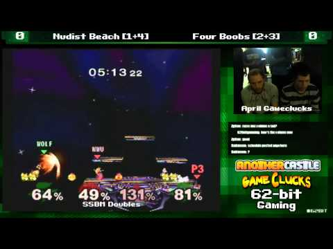 SSBM 2v2 Nudist Beach vs Four Boobs April Gameclucks