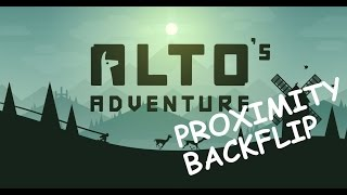 Alto's Adventure : Proximity BACKFLIP Tutorial ios/android gameplay for Level 34
