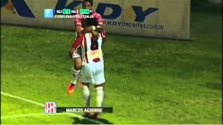Gol de Aguirre. Gimnasia (J) 0 - Instituto 1. Fecha 8. Torneo Primera B Nacional 2014. FPT.