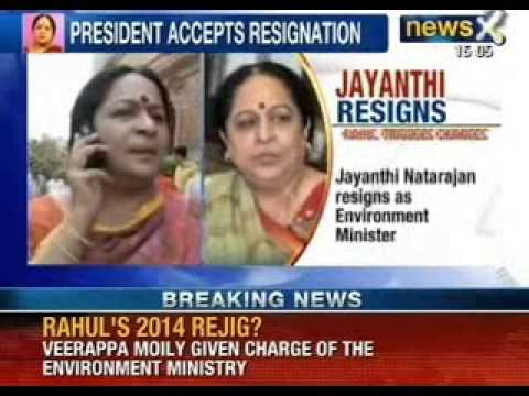 NewsX: Jayanthi Natarajan resigns as a Environment Minister