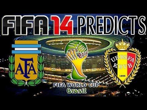 2014 FIFA World Cup Brazil | Argentina vs Belgium | FIFA 14 PREDICTS (PS4)