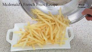 French Fries Recipe  Mcdonald's Fries At Home Recipe,Crispy French Fries چپس سیب زمینی سرخ کرده