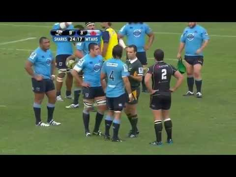 Frans Steyn floors Kurtley Beale Rd.7 2014 | Super Rugby Video Highlights