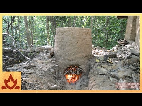 Primitive Technology Termite clay kiln  pottery
