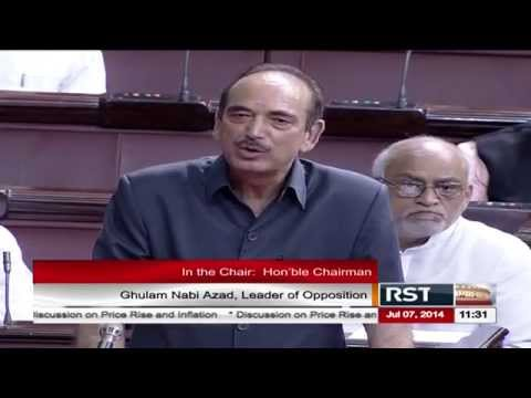 Mr. Ghulam Nabi Azad's speech on the discussion on Price Rise and Food Inflation