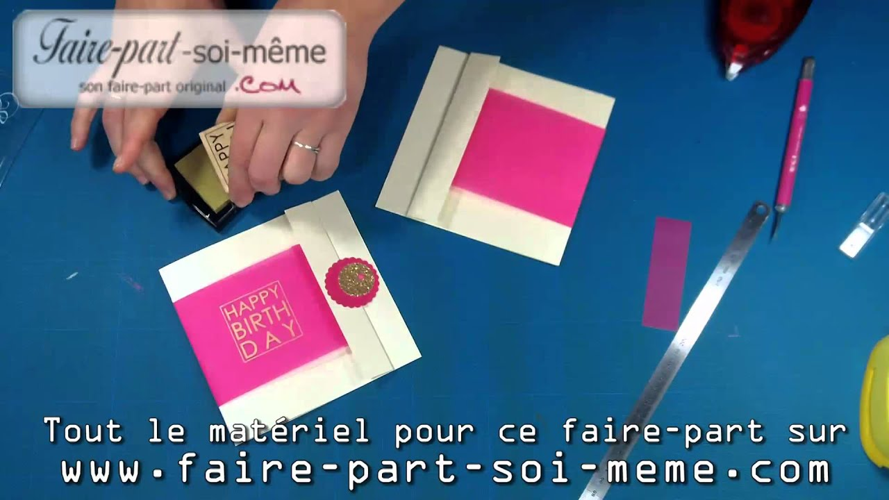 Carte d 39 invitation anniversaire girl youtube - Carte d invitation anniversaire a faire soi meme gratuit ...