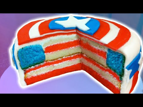 How To Make A Captain America Cake Nerdy Nummies