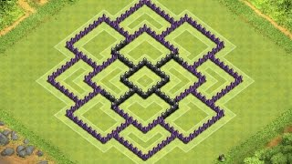 Clash Of Clans Town Hall 8 Defense (CoC TH8) BEST Trophy