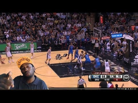 Wow ! Oklahoma City Thunder  vs San Antonio Spurs  game 6 Nba Playoffs 2014 Spurs win Reaction