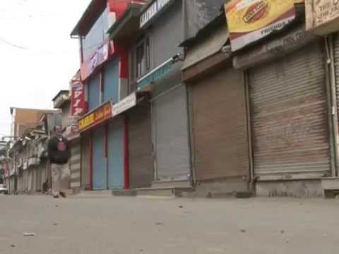 Restrictions in Downtown Srinagar