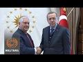 U.Ss Tillerson seeks to keep focus on Islamic State in delicate Turkey visit