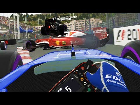 FULL SIMULATION AT MONACO ENDS BADLY  - F1 Game Online Funny Moments