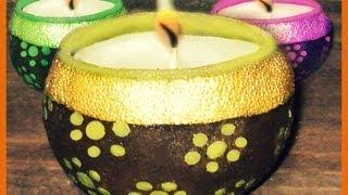 Hacer velas decorativas con cáscaras de naranja