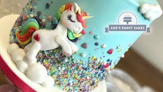 Unicorn sprinkles cake