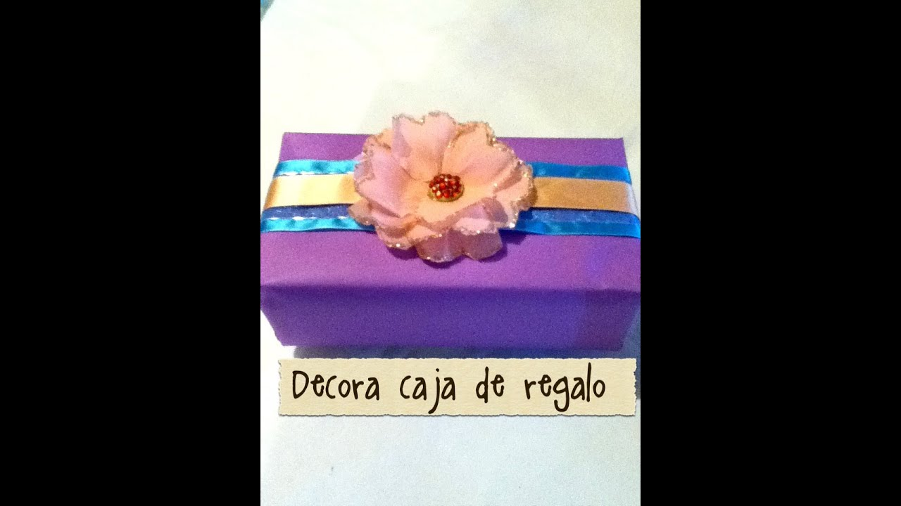 Flores de papel crep para envolver un regalo how to wrap - Papeles de regalo ...