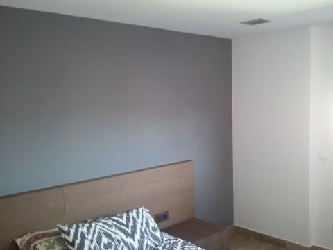 Pintar paredes en plastico blanco y esmalte gris for Pintura gris claro pared