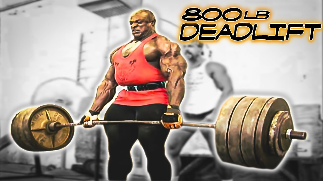 ronnie coleman 800lb dead lift hd youtube