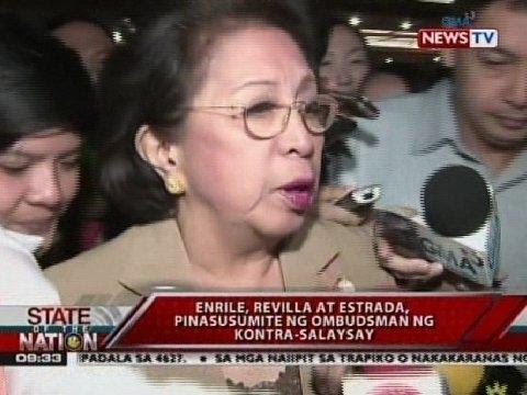 Carpio-Morales, walang natanggap na memorandum na nagdidiin kay Enrile bilang utak ng scam
