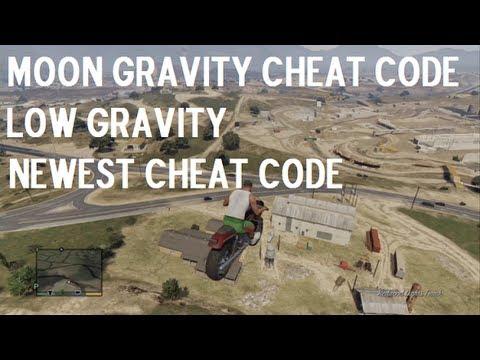 Grand Theft Auto V Moon Gravity Low Gravity Cheat Code - YouTube