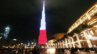 برج خليفة يكتسي بألوان علم بولندا في