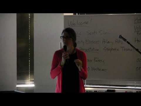"Stephanie Thomas ""Climate Change, Mass Extinction..."" Houston Oasis Gathering, Jan 19, 2014"