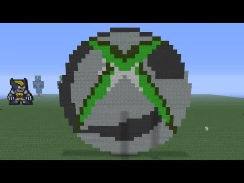 Minecraft Pixel Art: Xbox360 Logo Tutorial - YouTube
