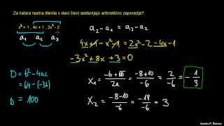 Aritmetično zaporedje – naloga 2