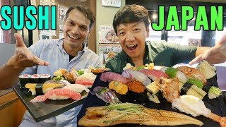 """FIRST SUSHI EXPERIENCE in Japan With John Daub From """"Only in Japan"""""""