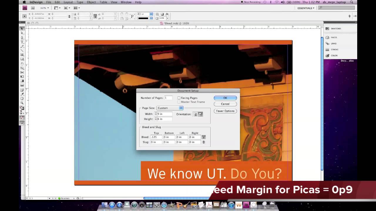 how to add crops and bleeds on a pdf
