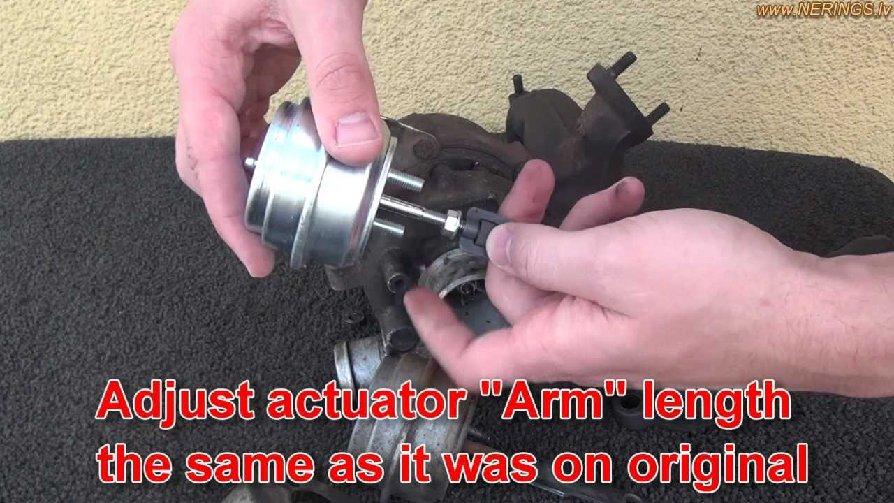 How To Change Turbocharger Wastegate Actuator Youtube