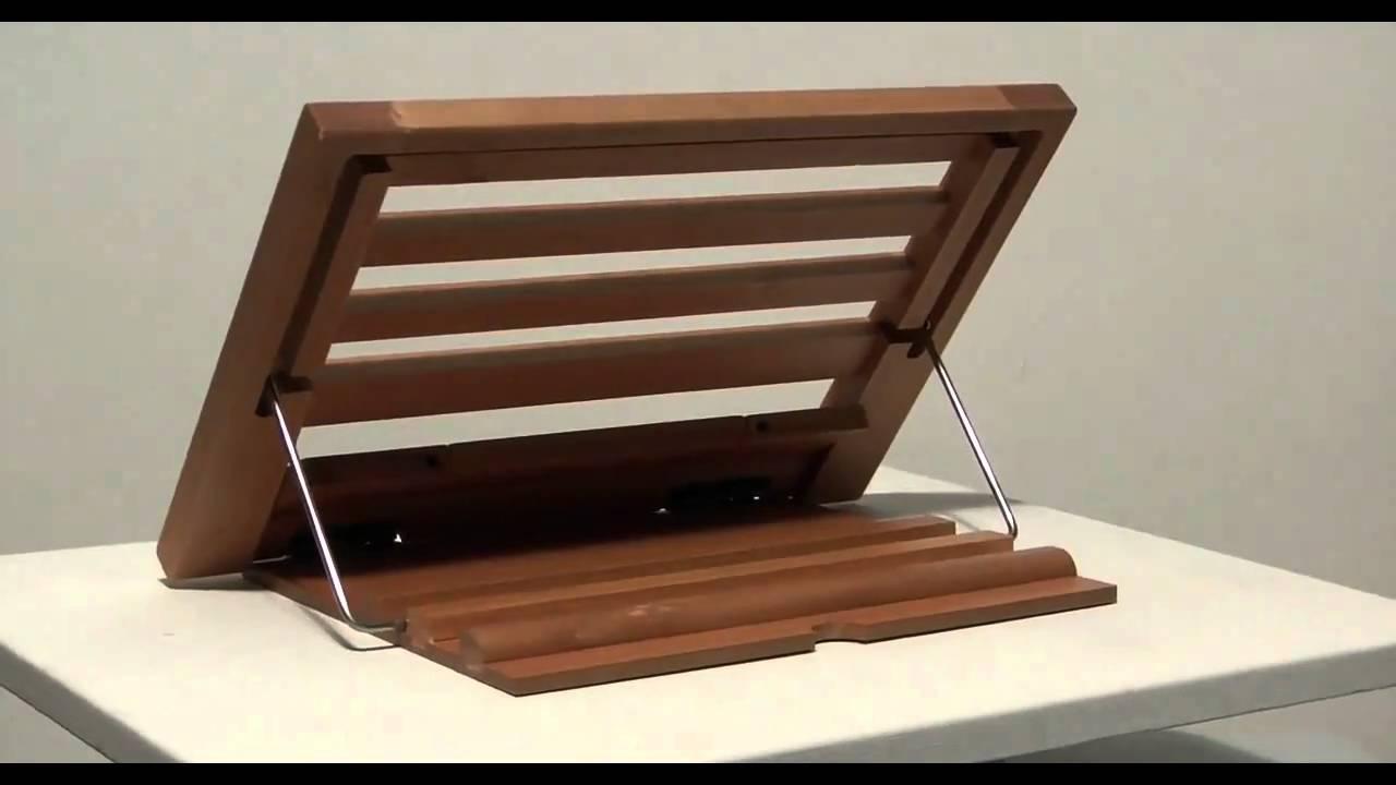 Leggio in legno da tavolo cm 24 x 34 youtube - Costruire tavolo in legno ...