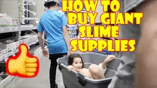 How to Buy Giant Slime Supplies � (WK 334.4) | Bratayley