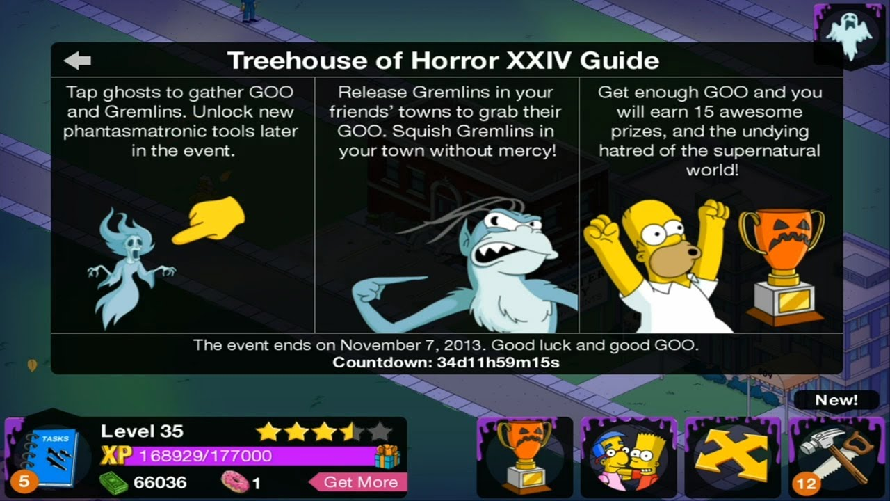 Simpsons Tapped Out Halloween 2013 Trivia Questions Long Hairstyles
